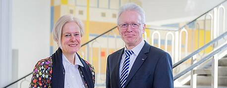 Prof. Salchert and Prof. Stenzel. Photo HTW Dresden